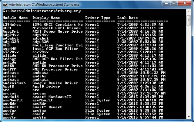 useful command prompt trick to check all PC drivers in Windows
