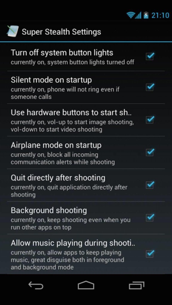 Mobile hidden Cam - best free spy app for android users