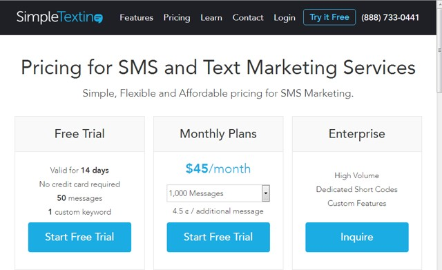 Simple Texting: All around texting app with great features for text marketing services