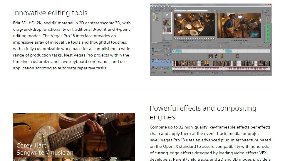 Sony-Vegas-Pro - Premium Best Video Editing Software Tool to Edit Videos Like A Pro