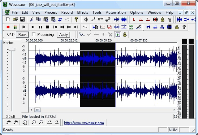 Wavosaur: feature rich best audio editor - best free audio editor for Windows
