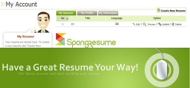 sponge resume best free online resume maker site best curriculum vitae generator tool - Build My Resume For Free Online