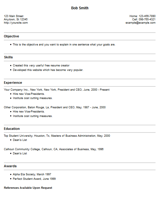 best free resume builders best resume builder templates resume ...