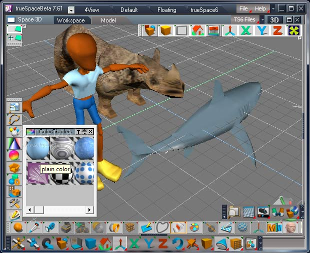 trueSpace - best 3d modeling software for 3d printing