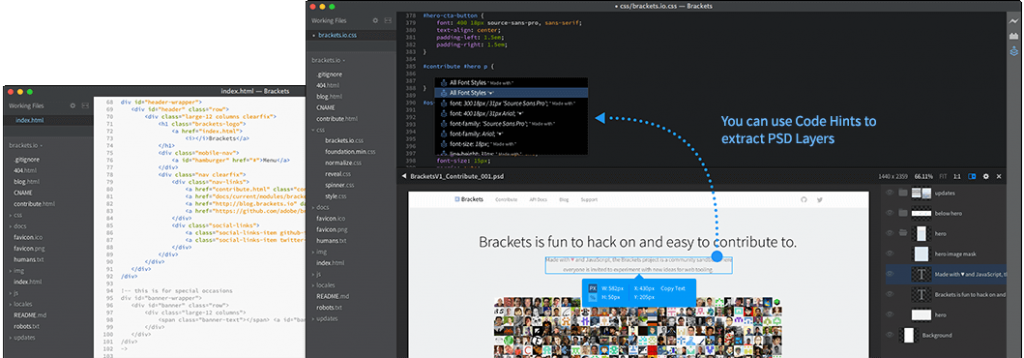 Brackets Open Source Mac Text Editor - Recommended Best Text Editor for Mac - Best Mac Text Editors - Paid and Free Text Editors for Mac