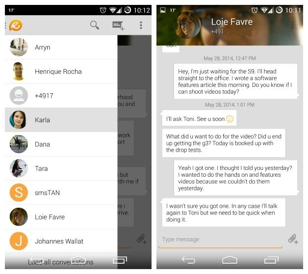 Evolve SMS best free texting app for android devices - What is the Best Texting App for Android