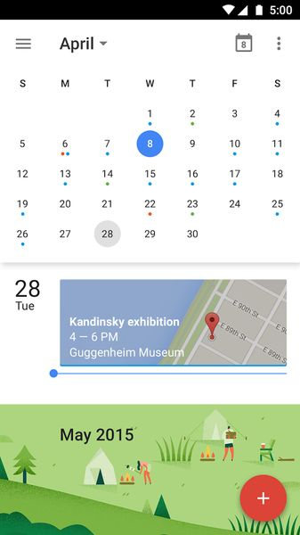 Google Calendar app for Android - Minimal Android Calendar App - Best Calendar App for Android -