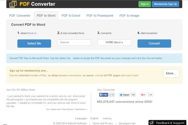 PDF Converter - Free Online PDF to Word Converter - PDF to Excel Converter - PDF to Powerpoint Converter - PDF to Image Converter