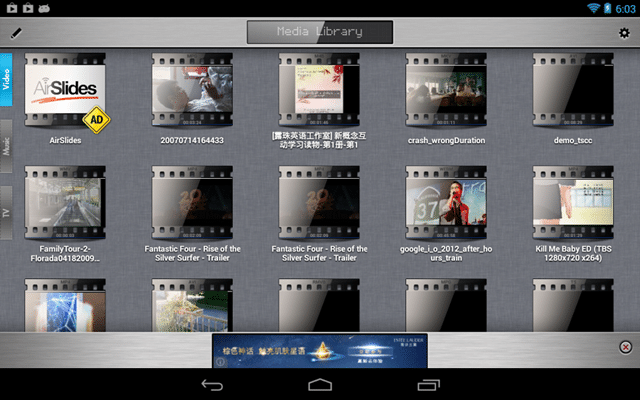 RockPlayer2 - best android video player apps - Best HD Video Player App for Android