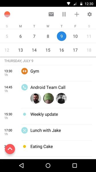 Sunrise Calendar Android Calendar Widget - Best Free Calendar App for Android - Best Android Calendar Widget App