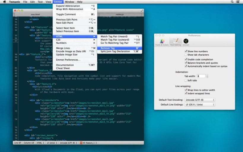 Textastic Paid Mac Text Editor for Macintosh - Recommended Best Text Editors for Mac - Best Mac Text Editor - Free Text Editors for Mac