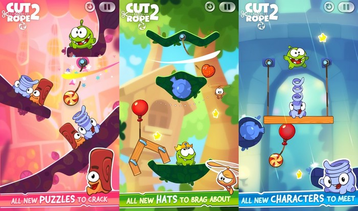 Cut the Rope 2 - iPhone Puzzle Solving Games for Kids - Best Puzzle Games for iPhone Gamers
