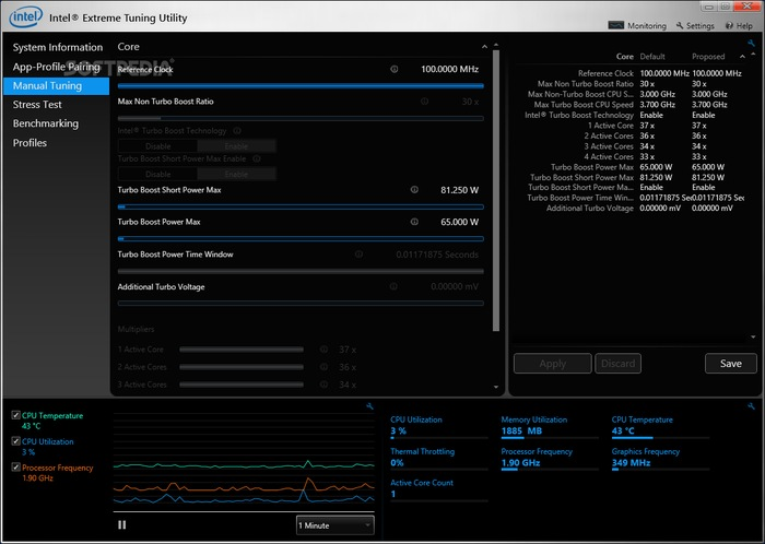 Intel® Extreme Tuning Utility- overclocking software by Intel - best GPU and CPU overclocking software