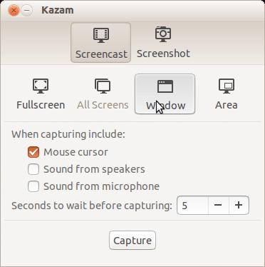 Kazam best Linux screen recorder - best screen recorder for Linux - Linux screen capturing tools