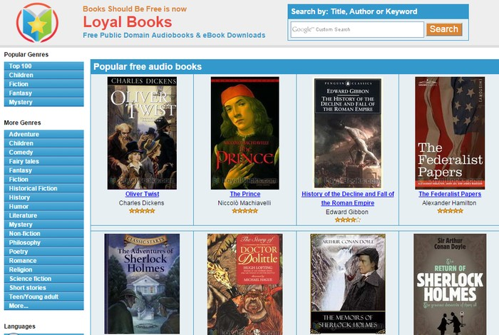 Loyal Books - Best Online Audio Books Download Sites to Listen to Free Audio Books Online