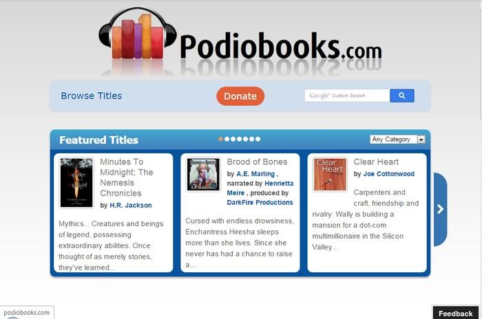 Podiobooks - Best Online Audio Books Download Sites to Download Free Streaming Audio Books Online