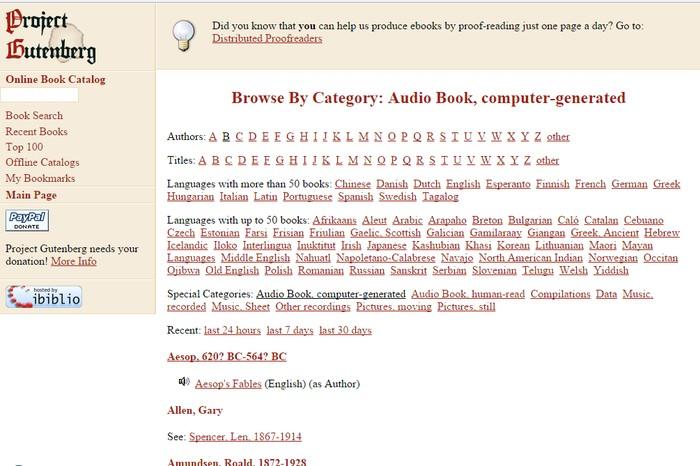 Project Gutenberg - Listen to Free Audio Books Online - Best Online Audio Books Download Sites