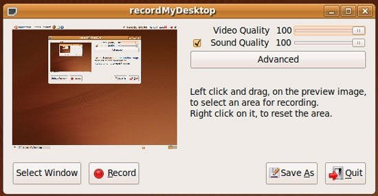 RecordMyDesktop linux screen capturing tools - Best Linux Screen Recorder for Recording Screen in Linux
