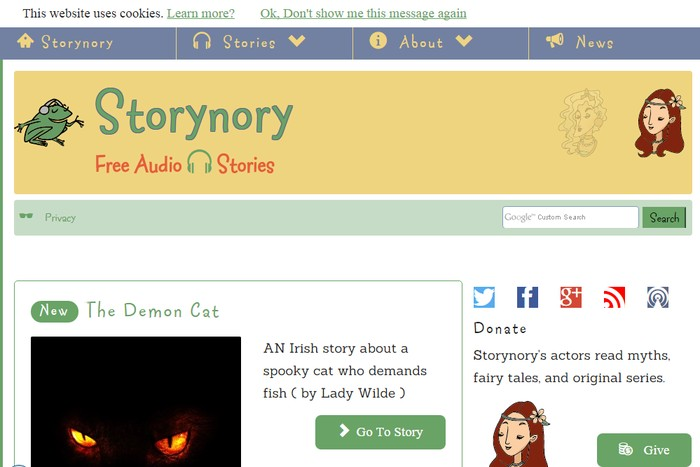 Storynory - Best Online Audio Books Download Sites to Download Free Streaming Audio Books Online