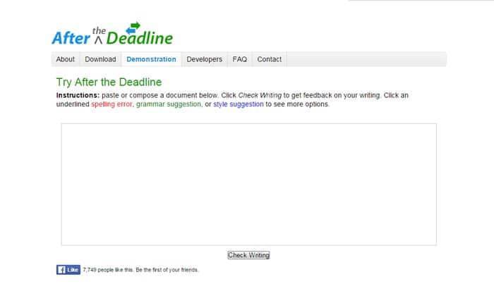 After The Deadline - Open source grammar checker - online grammar checker