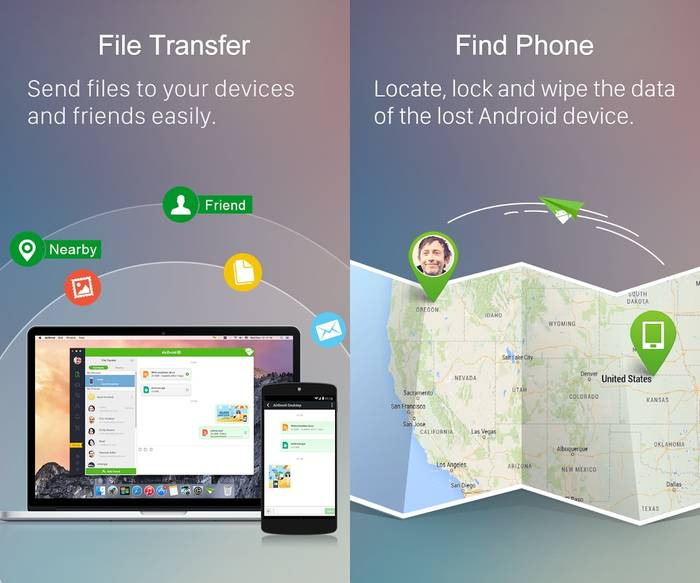 AirDroid - Send a Text from PC - Free Android App for File Transfer on Multi Platform