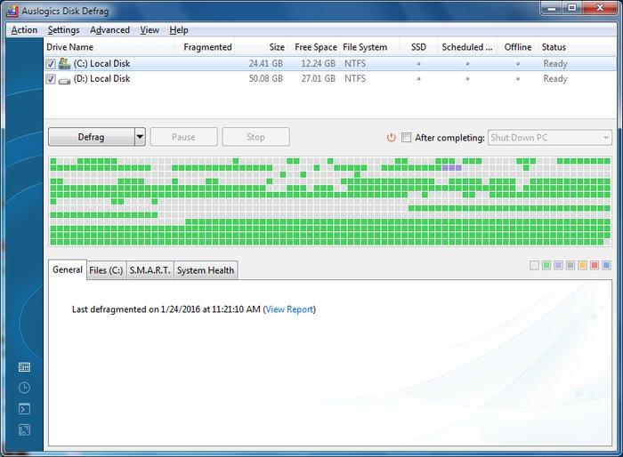Auslogics Disk Defrag - Best Free Defrag Software -Best Free Disk Defragmenter - Best Defrag Program