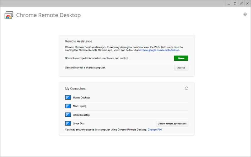 Chrome Remote Desktop Access - Best TeamViewer Alternatives for Remote Desktop Access - Remote Desktop Software