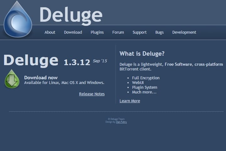 Deluge - Best uTorrent Alternative for Windows PC - Best uTorrent Alternative for Mac OS X