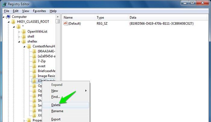 Edit Windows Context Menu Delete Entry - Windows Context Menu Editor - Windows Explorer Context Menu - Windows Context Menu Cleaner