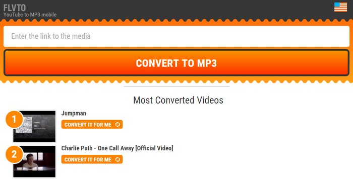 FLVTO- Convert YouTube To MP3 - online video converter free