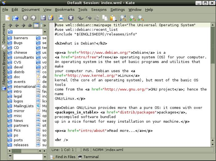 Kate - Replace Ubuntu Default Text Editor With Best Text Editor for Ubuntu
