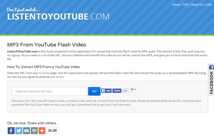 ListenToYouTube.com- simple YouTube to MP3 Converter -video converter online