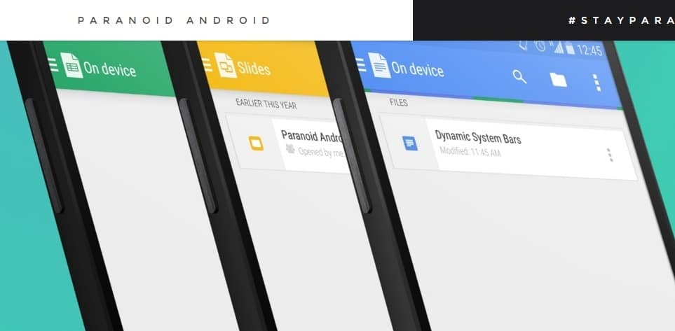 Paranoid Android - Best Custom ROM for Android - Best Android Custom ROM