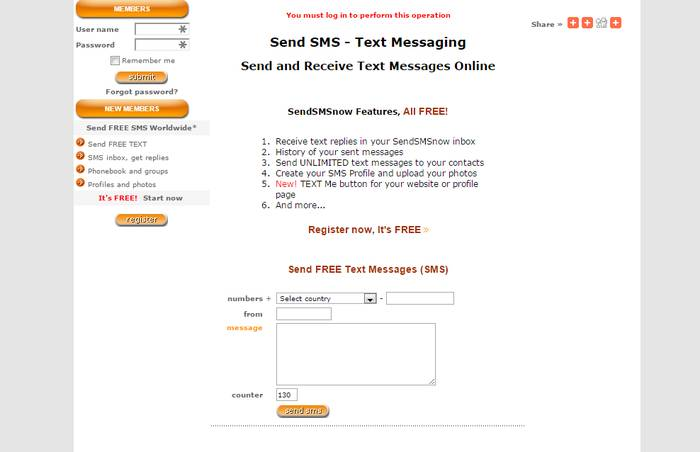 Send SMS Now - Send and Receive Text Messages Online - Send Free Text Messages from PC