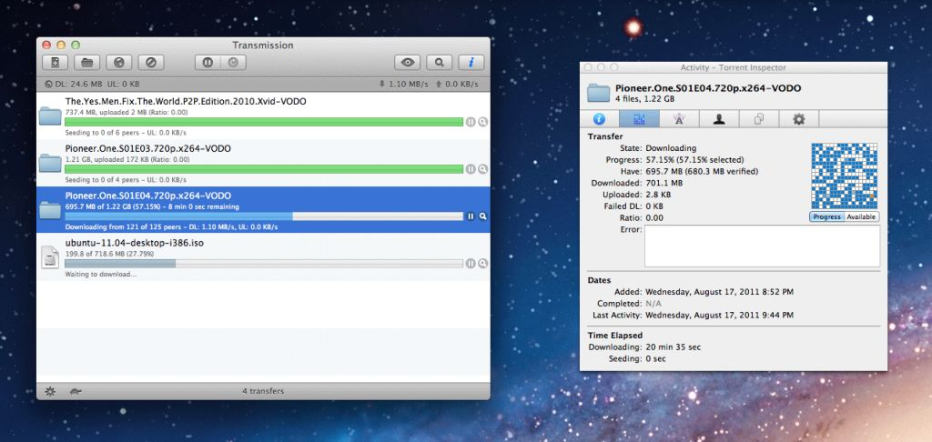 Transmission - Best uTorrent Alternative for Windows PC - Best uTorrent Alternative for Mac OS X