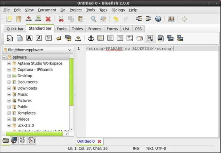 bluefish - Replace Ubuntu Default Text Editor With Best Text Editor for Ubuntu