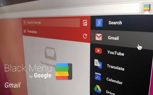 Black Menu for Google™ - all Google services in one place - Best chrome extensions plugin
