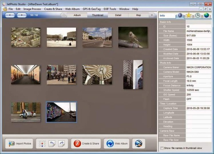 JetPhoto - Feature rich photo organizing tools - photo management software