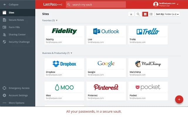 Lastpass- manage passwords - Best Chrome Extensions for Productivity