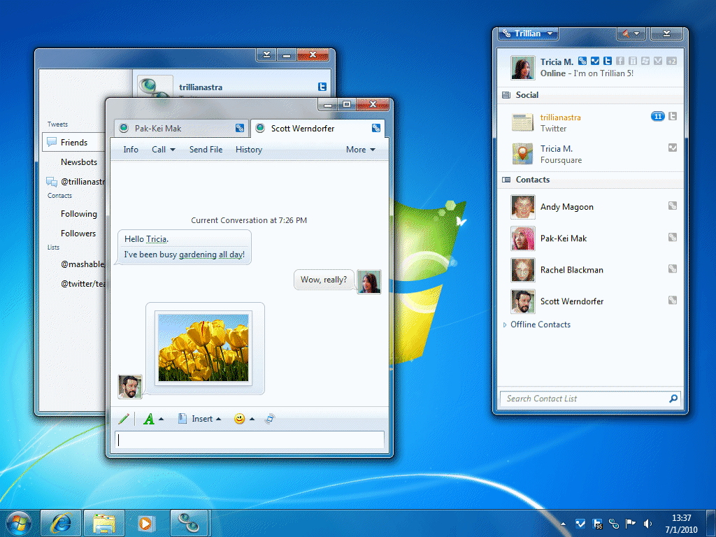 Trillian - attractive instant messaging program client for Multi-OS - Multi Protocol Instant Messaging Program