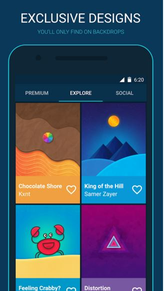 backdrops - wallpaper app - premium wallpaper - Best Wallpaper Apps for Android - Top 6 Best Android Wallpaper Apps You Must Have