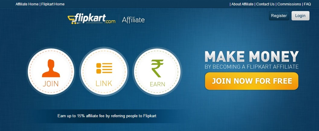 FlipKart Affiliate Program - Best and High Paying Affiliate Program for Indian Bloggers