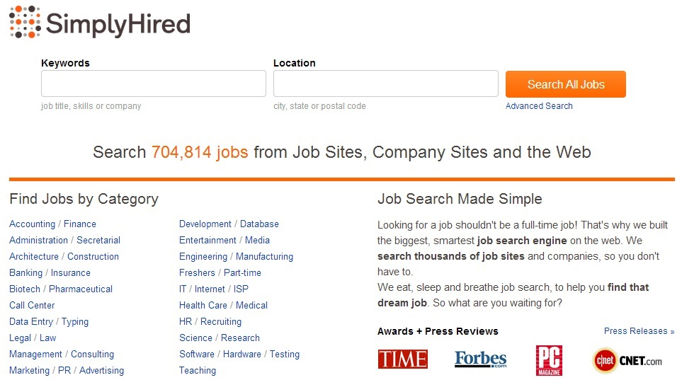 Simply Hired - Best Place to Get Hired