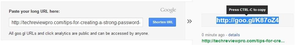 Google URL Shortener - Best URL Shortener to Shorten URLs