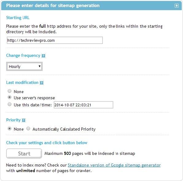 XML Sitemap Generator Online