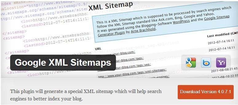 Google XML Sitemap Plugin to Generate Sitemap of Your WordPress Blog
