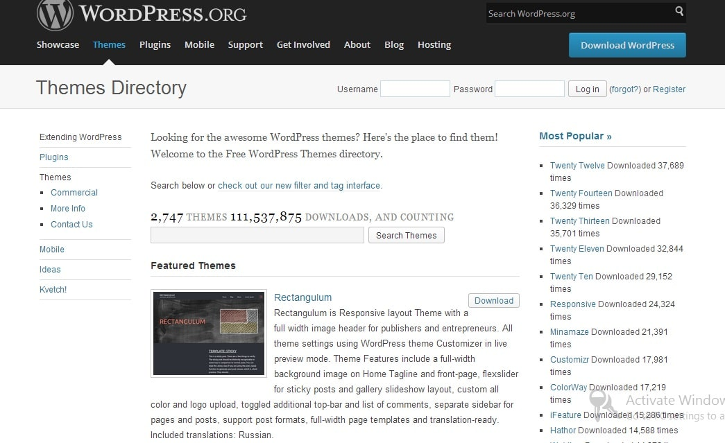 WordPress Theme Directory - Best Sites to Download Free WordPress Themes