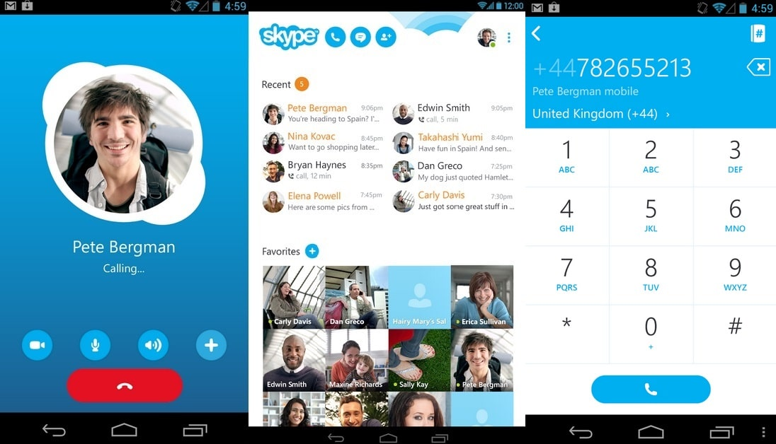 Skype - Most Popular Android Apps to Make Unlimited Free Calls
