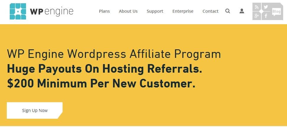 WP Engine - Best Affiliate Program for Blogging Niche Blogs