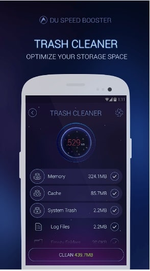 DU Speed Booster Trash Cleaner Boost Smartphone Speed Instantly